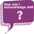 How to acknowledge the AIM Center